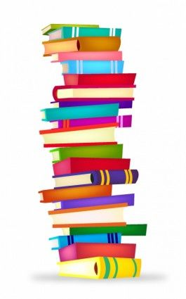 Stack of books clip art and book on