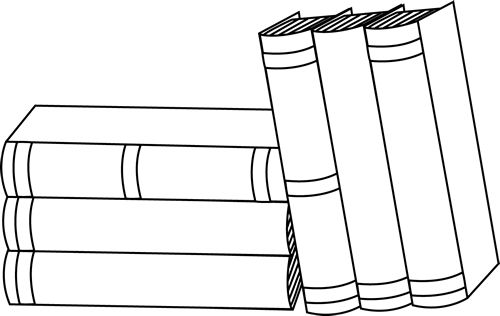 stack of books clip art | of Books Clip Art Image - black and white outline of a stack of books ... | Lions are loyal | Pinterest | Graphics, Clip art and ...