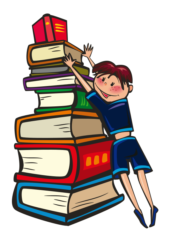 Stack of books clipart 3