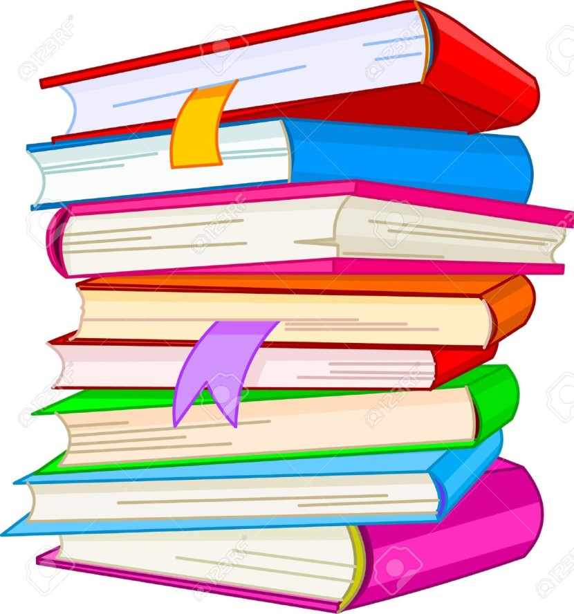 Stack of books clipart 4