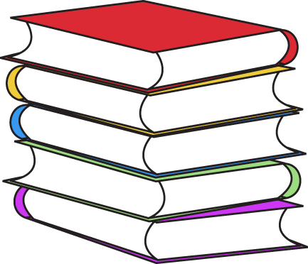 Stack of books clipart kid