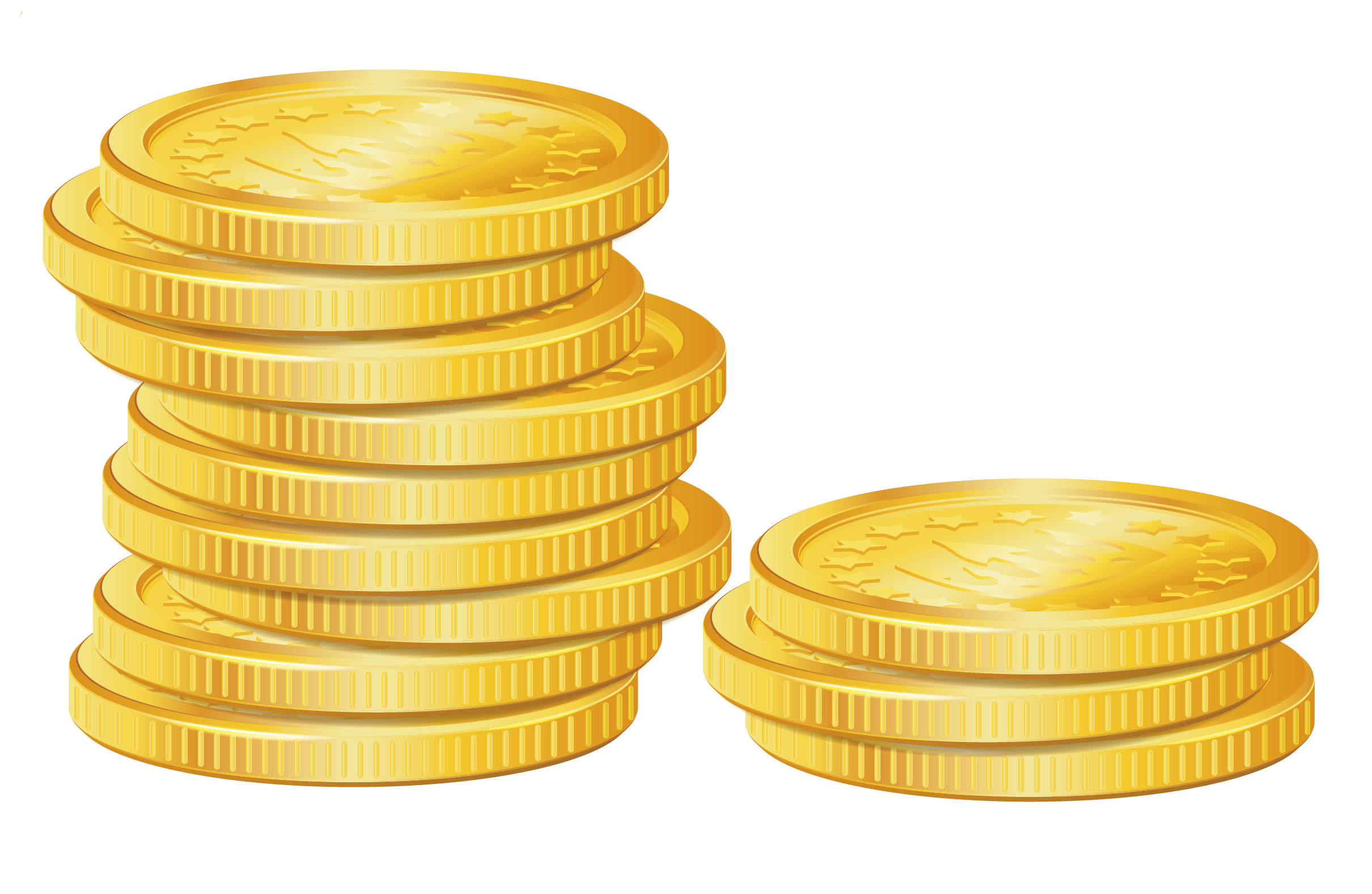Stack of gold coins clip art .