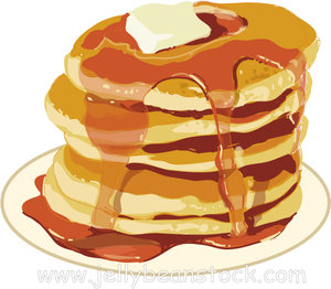 Stack of pancakes clipart - ClipartFest