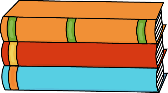 Stack of Three Books - Book Clipart