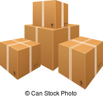stacks of cardboard boxes .