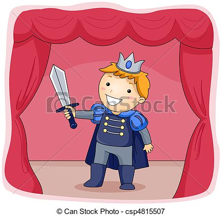 Stage Actor - Illustration of a Kid Dres-Stage Actor - Illustration of a Kid Dressed as a Prince.-13