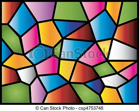 Stained Glass - A Colourful Modern Stain-Stained Glass - A colourful modern stained glass design.-11