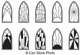 ... Stained Glass Windows - Vector art depicting isolated.