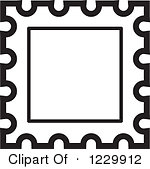 Stamp Clipart Postage Stamp . Clipart Of A Black And White .