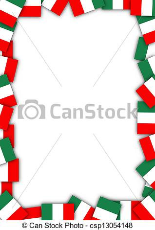 Stamps With Italy Clip Artby Roxanabalin-Stamps with Italy Clip Artby roxanabalint22/2,549; Italy flag border - Illustration of a frame made of Italian.-16