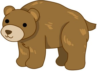Standing bear clipart free clipart images 2