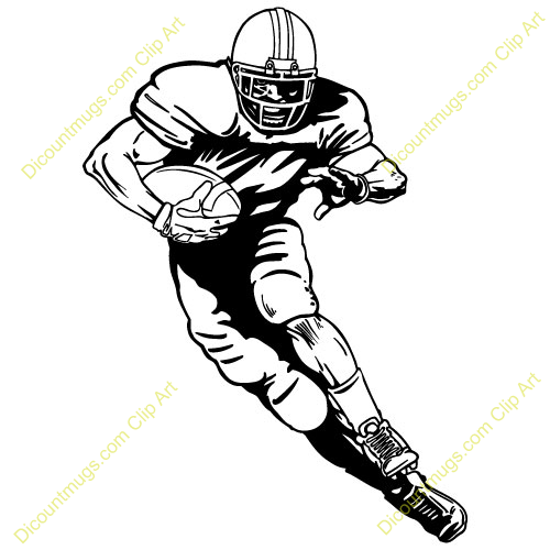 Standing Football Player Clipart Running Football Player Clipart 13960