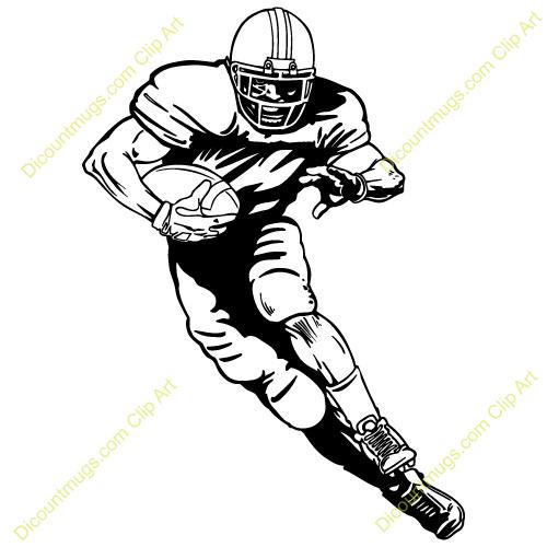 Standing Football Player Clipart Running Football Player Clipart 13960