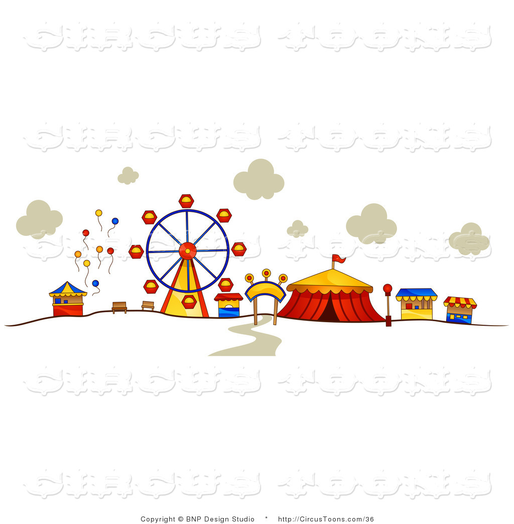 Stands At A Carnival Circus C - Carnival Clipart