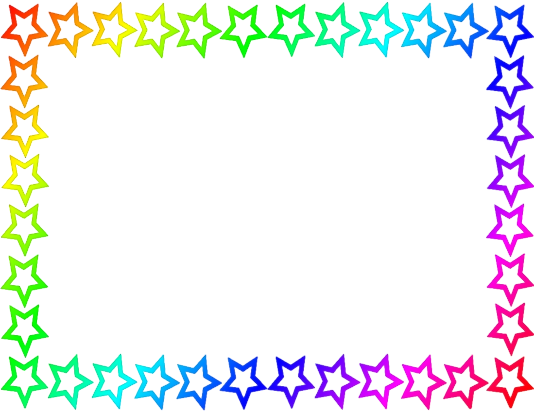 star border clipart - Birthday Border Clip Art