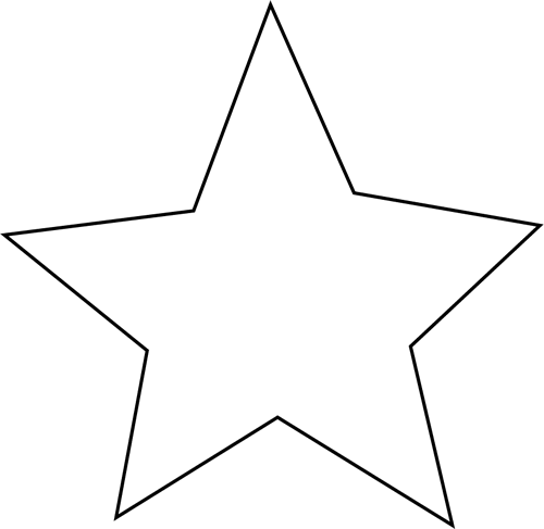 star clipart black and white-star clipart black and white-3