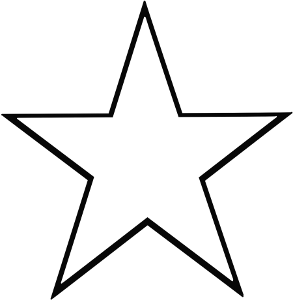 star outline clipart