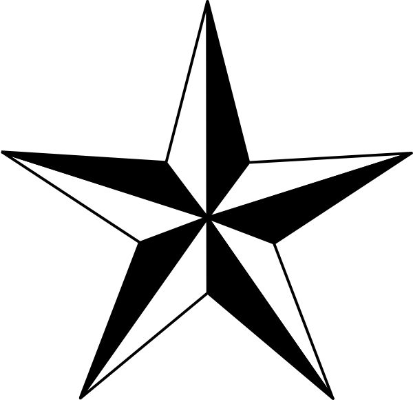 Star black and white image of star clipart black and white and 2