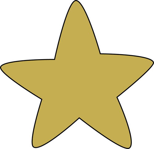 Gold Rounded Star-Gold Rounded Star-13