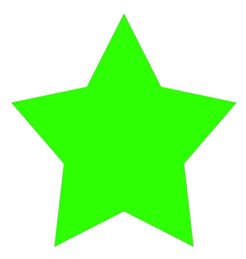 . ClipartLook.com green 5-pointed star