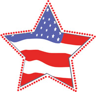 Star Flag Memorial Day Clipart Size: 106 Kb