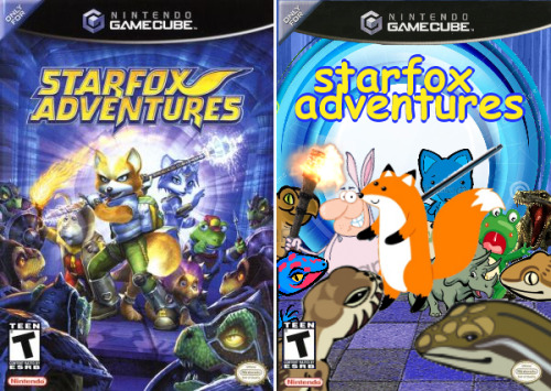 clipartcoverart: u201c Starfox Adventures ClipArt Cover Art u201d Bootleg Star Fox  Adventures?