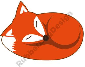 . ClipartLook.com Stunning Idea Sleeping Clipart Fox Etsy ClipartLook.com