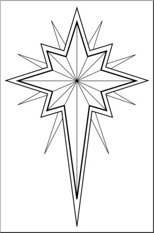 Star Of Bethlehem Clipart Free. Religious Christmas Star Clip .
