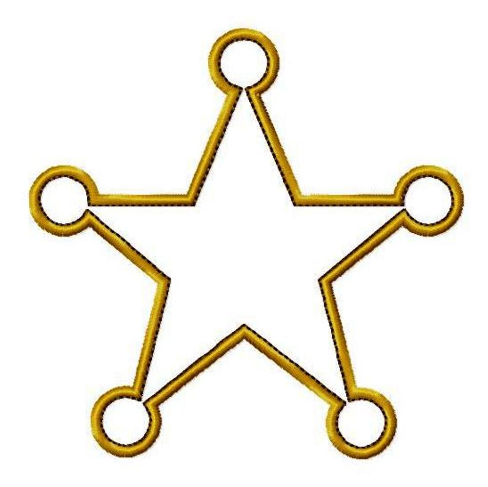 Star / Sheriff Badges - Clipart library