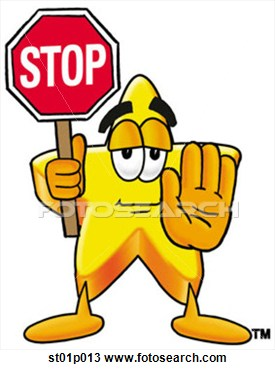 Star Stop Clipart #1