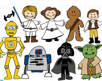 Star Wars Clipart, Space Wars Digital Clipart, Starwars Clip Art, Instant Download D513