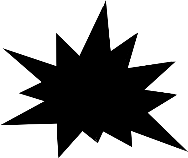 starburst clip art outline