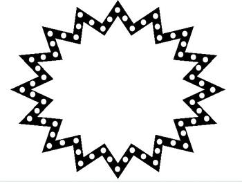Starburst Clipart Black And White-starburst clipart black and white-8