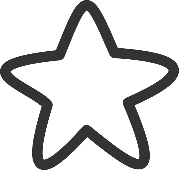 starfish clipart black and white