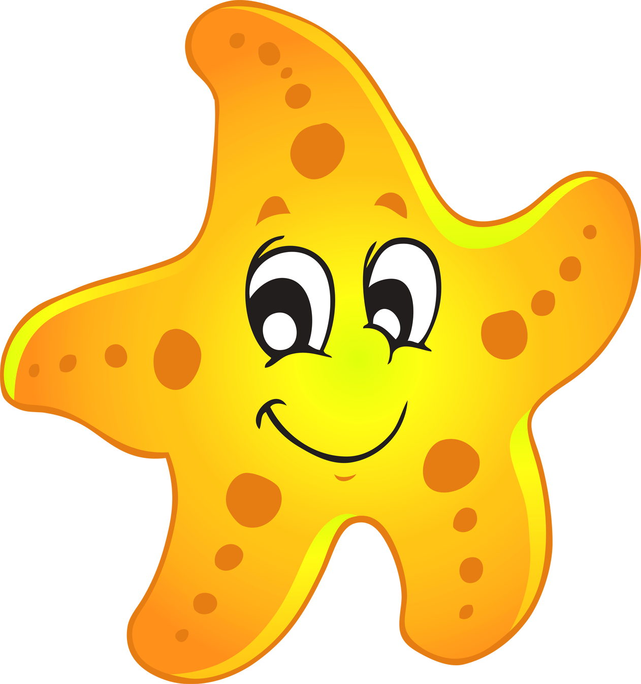 Starfish cute of a sea star clipart