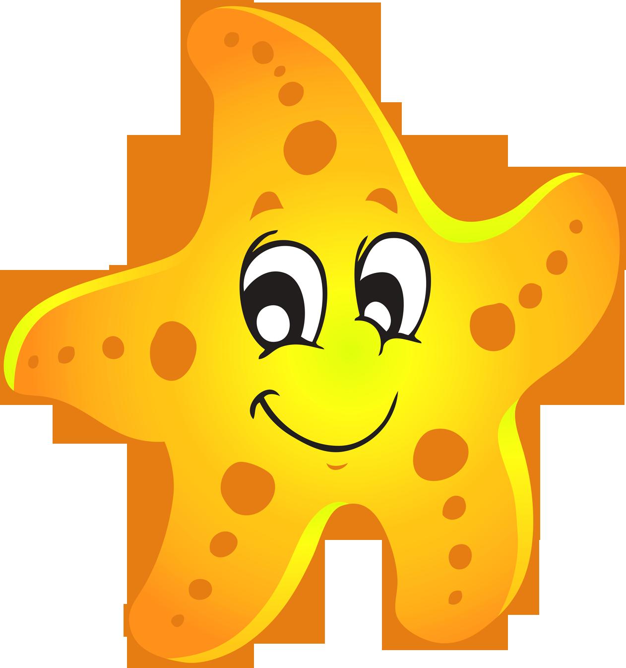 Starfish cute of a sea star clipart