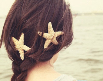 Starfish Hair Barrette, Starfish Haircli-Starfish Hair Barrette, Starfish Hairclip, Mermaid Accessories, Beach Weddings-13