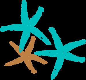 Starfish Prints Clip Art