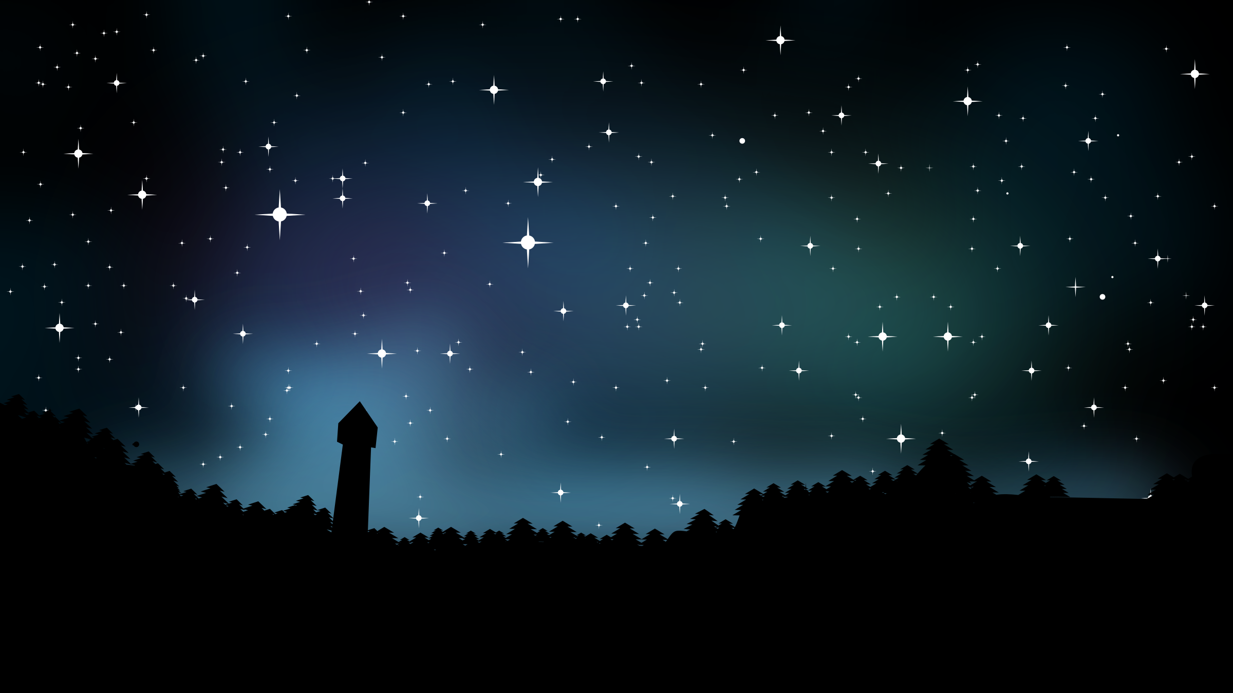 Starry Sky at Night Clipart