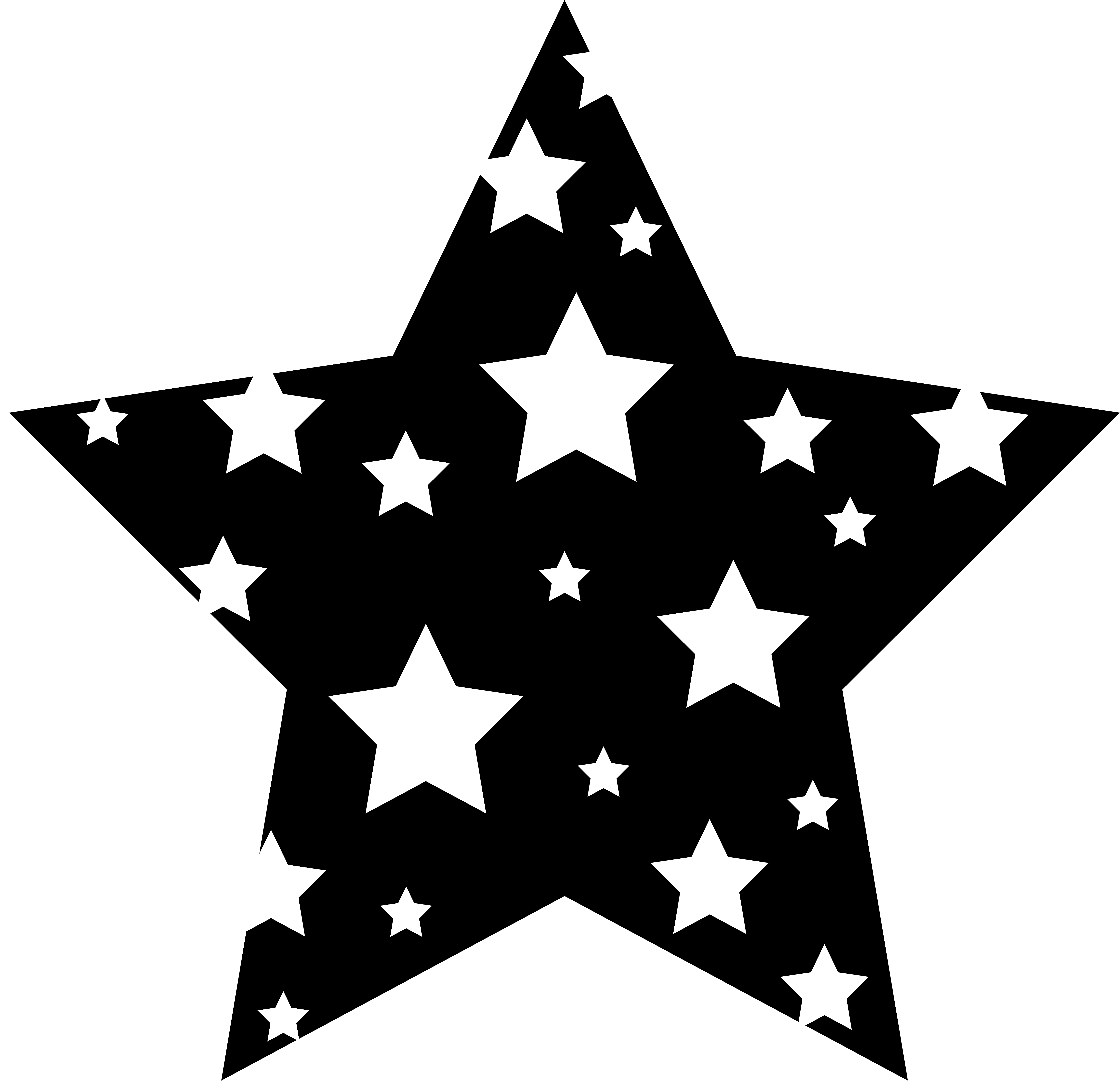 Stars Clipart Black And White .