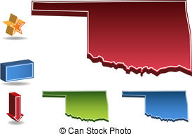 State Of Oklahoma Clipartby Ludvig6/344;-State of Oklahoma Clipartby Ludvig6/344; Oklahoma State map.-10
