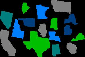 States Individual Clip Art .