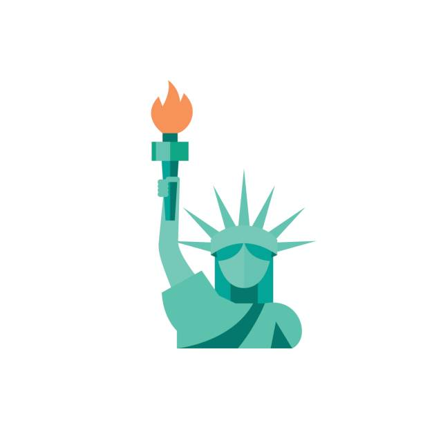 Statue of Liberty icon vector art illustration
