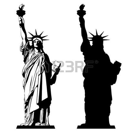 The Statue of Liberty. Vector illustration Illustration