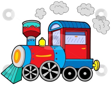 Steam Locomotive Stock Vector Clipart St-Steam Locomotive Stock Vector Clipart Steam Locomotive On White-8