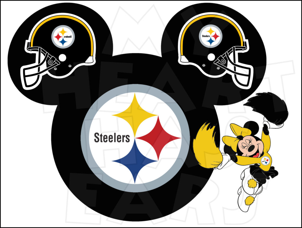 Steelers Football With Minnie Mouse Instant Download Digital Clip Art