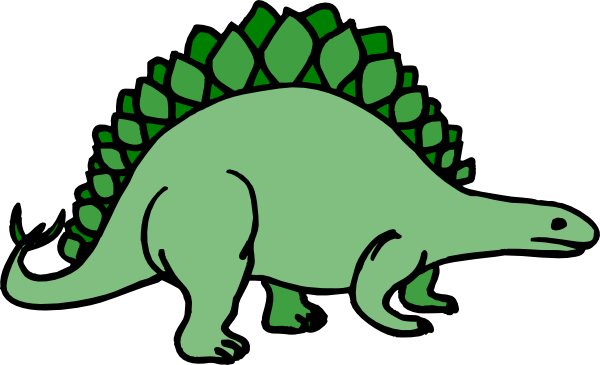 stegosaurus clip art black and white