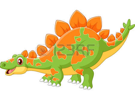 stegosaurus: Cartoon big dinosaur Stegosaurus Illustration