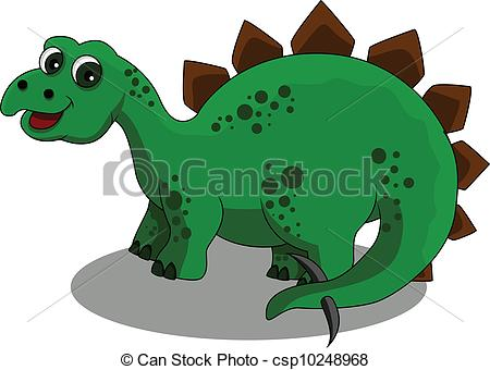... Stegosaurus cartoon - vector illustration of Stegosaurus... Stegosaurus cartoon Clip Art ...