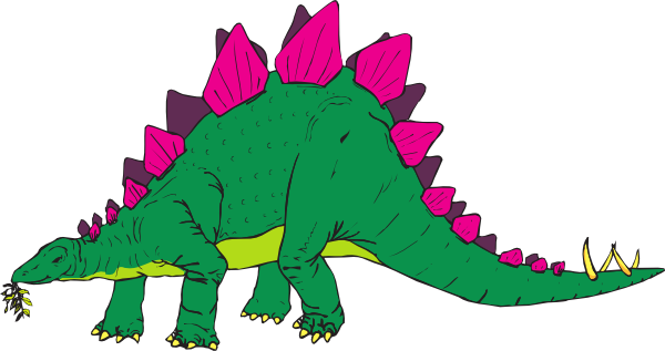 Stegosaurus Clipart. Download this image as: